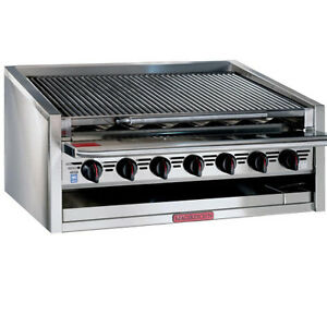 Magikitch n Apm rmb 624cr 24 Gas Countertop Charbroiler With Cast Iron Radiants
