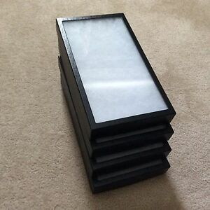 1 Box of 4 8 X 14 1 2 X 1 3 4 Display Cases riker Type Usa Made