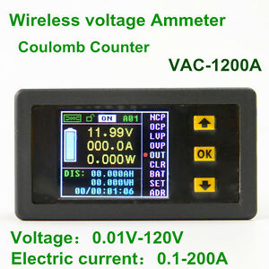 5pcs Wireless Lcd Display Digital Voltmeter Ammeter Power Monitor Voltage Tester