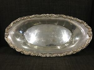 Fb Rogers Silver Co Oval Platter Serving Dish