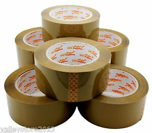 Lot 12 Brown Tan Packing Carton Sealing Packaging Tape 2 110 Yds 330ft 1 6 Mil