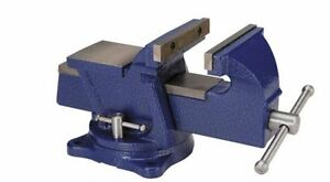 Bench Vise Anvil Swivel 5 In Tabletop Clamp Heavy Duty Cast Steel Locking Base