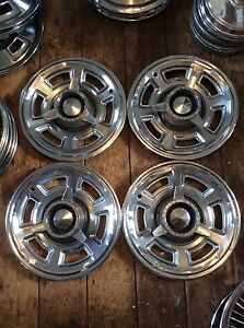 1965 Pontiac Gto Factory 14 Spinner Hubcaps Lemans Tempest
