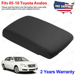 Fits 2005 2010 Toyota Avalon Leather Center Console Lid Armrest Cover Black