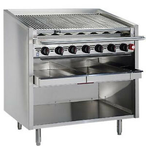 Magikitch n Fm rmb 660cr 60 Floor Gas Charbroiler With Cast Iron Radiants