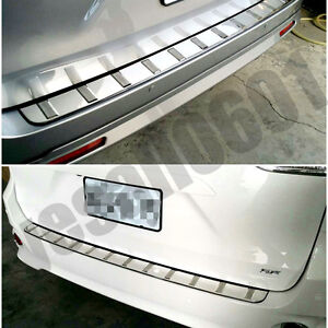 Stainless Steel Outer Rear Bumper Protector Trunk Guard Cover For Toyota Sienna