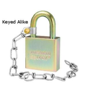 American Lock A5200glwnka Government Padlock With 9 Chain Keyed Alike