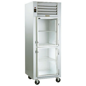 Traulsen G11000 Reach in Refrigerator With Hinged Right Half Height Glass Doors