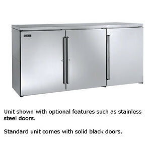 Perlick Bbr72 72 Three section Refrigerated Back Bar Cabinet