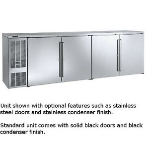 Perlick Bbs108 108 Four section Refrigerated Back Bar Cabinet