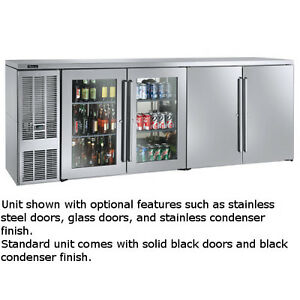 Perlick Bbsn92 92 Narrow Door Four section Refrigerated Back Bar Cabinet