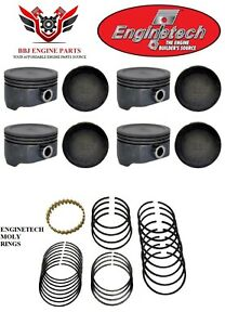 8 Enginetech Chevrolet Gm Geniii 5 3 Lm7 New Hypereutectic Pistons And Rings