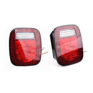 2pcs 39 Led Stop Turn Tail Reverse License Light For Truck Trailer Boat Jeep Tj