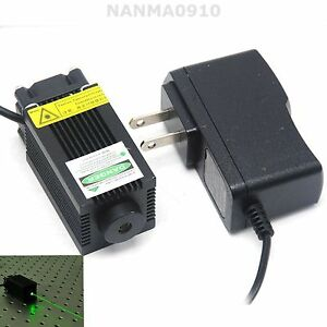 High Power 100mw 532nm Green Laser Diode Dot Module W Cooling Fan