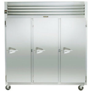 Traulsen G31012 3 Section Solid Door Reach in Storage Freezer Hinged Right