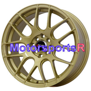 17 Xxr 530 Gold Concave Rims Wheels 4x114 3 93 97 98 02 Honda Accord Ex 4 Lugs