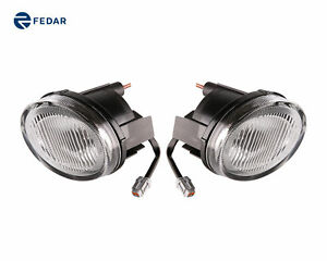 2 Peices Clear Lens Fog Lights Driving Lamps For Nissan Maxima A33 2000 2003