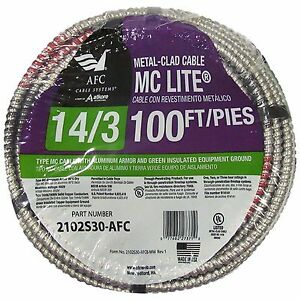 Afc Cable Systems 100 feet 14 gauge Branch Solid 600v Electrical Power Wire Roll