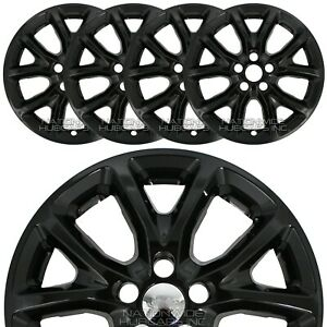 4 Fits Jeep Cherokee 2014 2017 Black 17 Wheel Skins Hub Caps Snap On Rim Covers