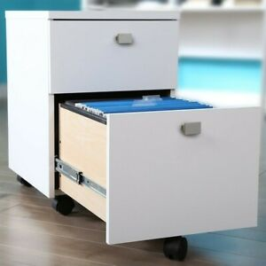 Filing Cabinet File Storage 2 drawer Mobile In Pure White By South Shore