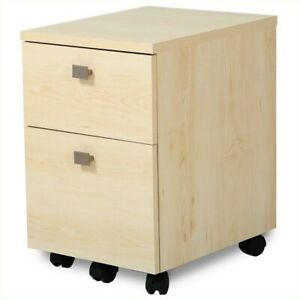 South Shore Interface 2 drawer Mobile File Cabinet In Natural Maple