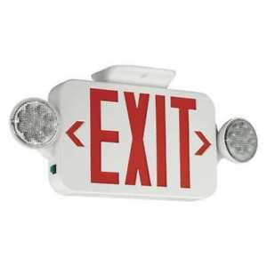 Hubbell Lighting Compass Exit Sign Emergency Lights