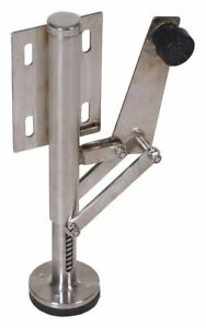 Floor Lock side mount use W 2 In Caster Vestil Fl lk smr ss l