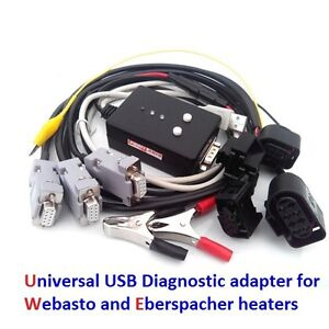 Usb Diagnostic Adapter For Webasto And Eberspacher Additional Connectors