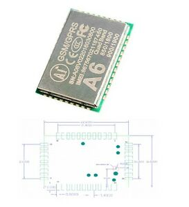 1pcs A6 Gsm Gprs Quad band Tracking Module 850 900 1800 1900mhz New K9
