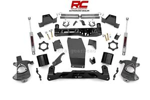 14 17 Chevrolet Gmc 1500 4wd 6 Rough Country Lift Kit Aluminum stamp 22730
