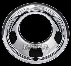 1 Front 2003 18 Dodge Ram 3500 17 Chrome Dual Wheel Simulators Dually Rim Cover