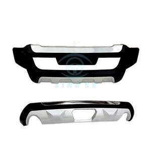 2pcs Abs Chromed Front Rear Bumper Modified For Ford Edge 2011 2014