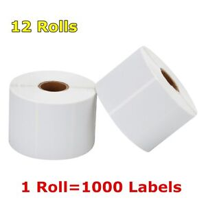 12 Rolls 2 25 X 1 25 Direct Thermal Barcode Label Zebra Lp2824 Tlp2824 Lp2844