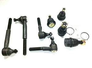 8 Piece Kit Ball Joints Inner Outer Tie Rod And Upper Lower Ball Joints 2wd