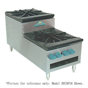 Comstock Castle Sucsp36 36 Step up Stock Pot Gas Range