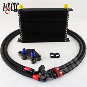 An10 15 Row Trust Oil Cooler Kit For Bmw Mini Cooper S R53 Supercharger Black