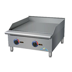 Comstock Castle Gr24 t 24 Countertop Gas Griddle With Thermostat Controls
