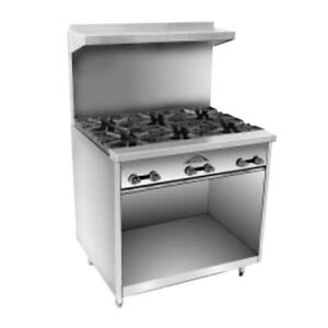 Comstock Castle F33 36 Gas Restaurant Range