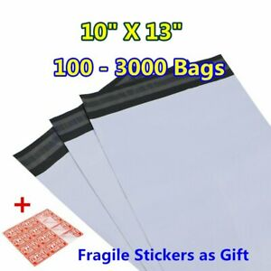 100 3000 10x13 Poly Mailers Shipping Envelopes Self Sealing Plastic Bags 2 4 Mil