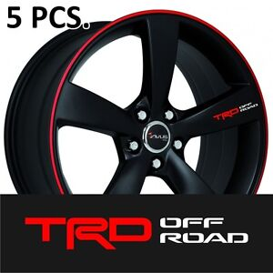 5pcs Toyota Trd Off Road Door Handle Wheel Sticker Decal Tacoma Tundra
