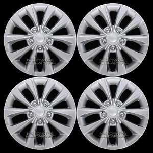 4 New 02 16 Camry Corolla 16 Silver Wheel Covers Rim Hub Caps With Steel Clips