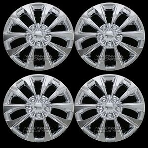 4 New 02 16 Camry Corolla 16 Chrome Wheel Covers Rim Hub Caps With Steel Clips