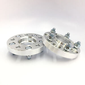 2x 25mm 1 Hub Centric Wheel Spacers Adapters 5x115 14x1 5 Fit Dodge Chrysler