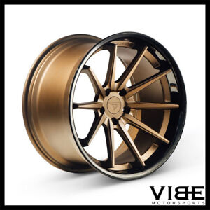 22 Ferrada Fr4 Bronze Concave Wheels Rims Fits Chrysler 300 300c 300s