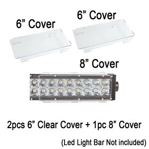 20 Inch Snap On Clear Led Light Bar Protective Covers For Jeep Truck Offroad