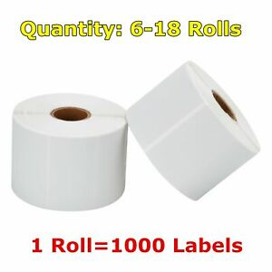 6 30 Rolls 2 25 X 1 25 Direct Thermal Barcode Price Labels Zabra Lp2824 Lp2844
