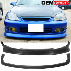 For 99 00 Honda Civic Ek Cs Style Front Bumper Lip Splitter Body Kit Pp