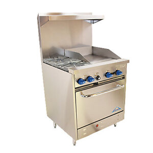 Comstock Castle F326 18 30 Gas Restaurant Range With Griddle