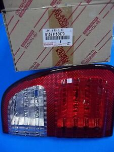 1998 2002 Lx470 Tail Genuine Lamp Lens Driver Side On Lift Gate 81591 60070