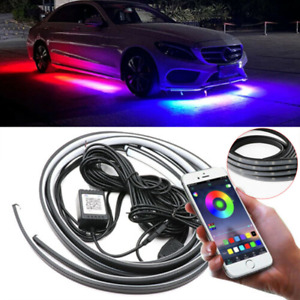 App Control Led Strip Under Car Tube Underglow Underbody System Neon Lights Kit
